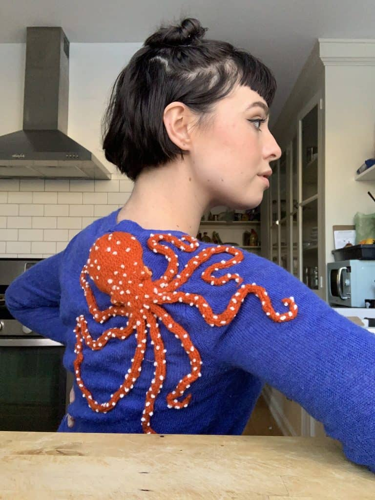 Octopus Sweater: The Perfect Hand-Stitched Addition