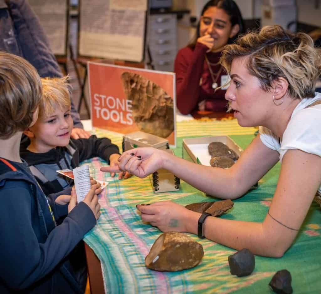 ella beaudoin teaching about stone tools