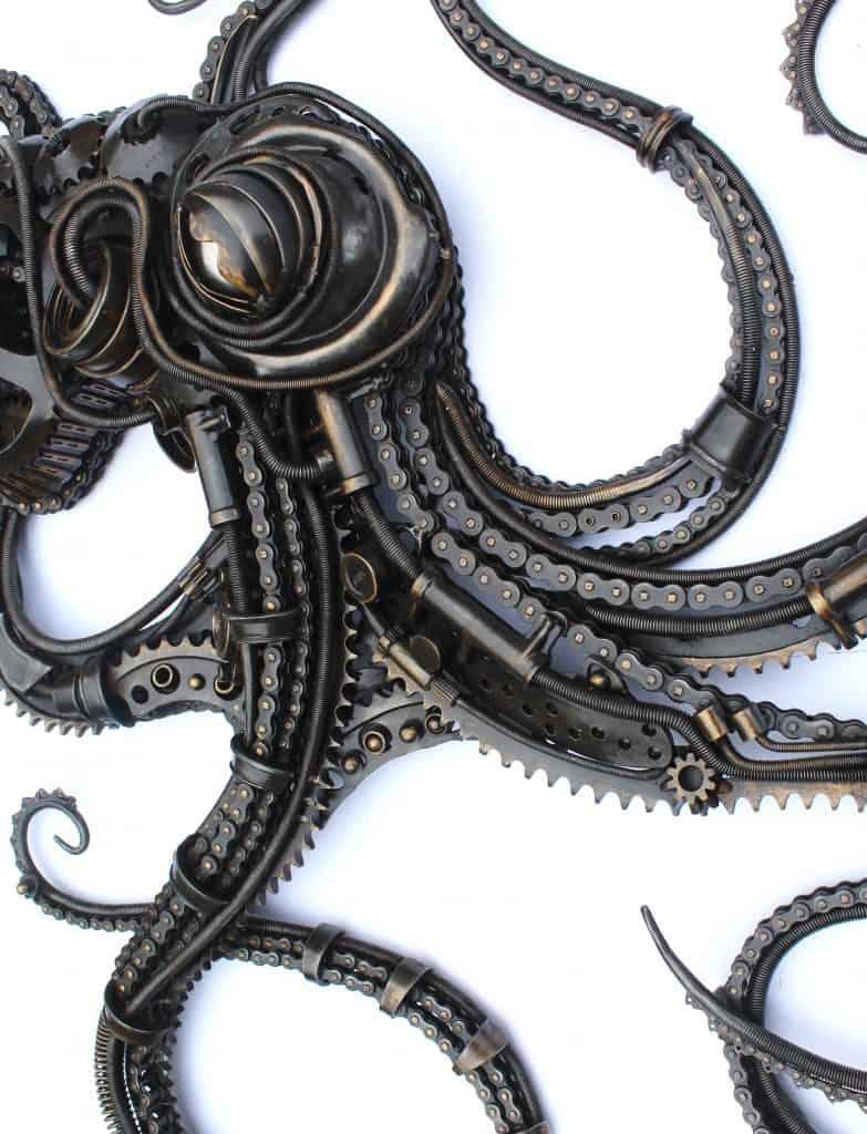 close up of Alan Williams sculpture