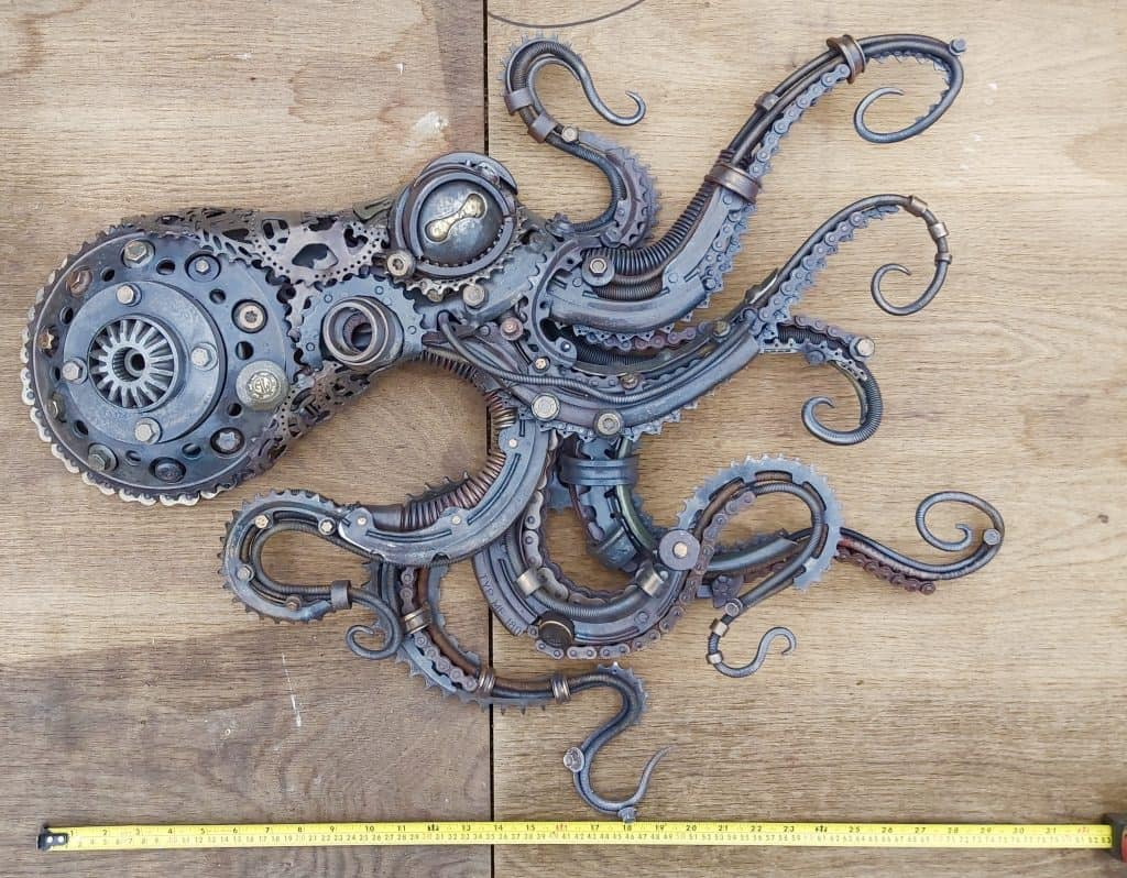 Octopus Sculpture made by alan williams